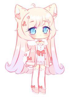 Art Trade With Merindity Kawaii Draw Drawing Anime Chibi Anime Chibi Kawaii Girl Drawings . Anime Neko, Cute Anime Chibi, Kawaii Chibi, Kawaii Anime Girl, Kawaii Art, Anime Art, Chibi Bunny, Manga Anime, Cute Animal Drawings Kawaii
