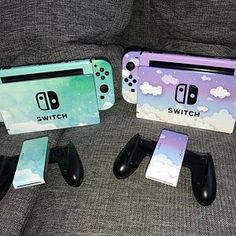 Clouds in the Celestial Skin for the Nintendo Switch Gamer Console Joycon Joy Con Dock Pro Controller Decal Sticker Wrap Gaming AccessoryClouds In The Sky Nintendo Switch Skin Gamer Console Nintendo Switch Game Console, Nintendo Switch Case, Nintendo Switch Accessories, Gaming Accessories, Pokemon Zelda, Video Game Nintendo, Nintendo Games, Iphone Cover, Otaku Room
