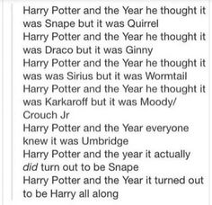 Ahhh I'll never forget the year Rowling made it simple but we all weren't suspecting Umbridge coz that's how Rowling works and them BAM the unexpected was the expected