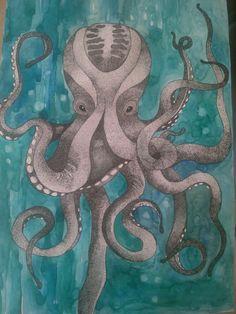 Ahtapot octopus #art #painting