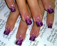 Nails - do this but with white tips instead of purple