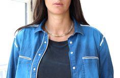 Collier Chaine Coyote Aime sur www.lestrouvaillesdelsa.fr