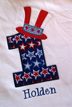 Fourth of July Personalized Birthday shirt or by grammeshouse, $24.00