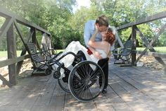 Wheelchair/disability wedding (vow renewal) photography, photo credit: Danielle Ault