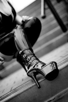 High heel and latex by ArtofLosing on deviantART #platformhighheelslatex
