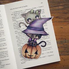 Mischievous Kitties bookmark by ribonitachocolat on Etsy