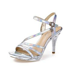 Sandals - $40.99 - Leatherette Stiletto Heel Sandals Slingbacks With Buckle shoes (087049322) http://jjshouse.com/Leatherette-Stiletto-Heel-Sandals-Slingbacks-With-Buckle-Shoes-087049322-g49322