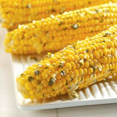 Crock Pot corn on the cob with garlic herb butter