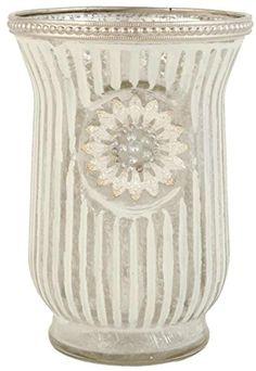Clayre & Eef 6GL1139 Teelicht Teelichthalter Windlicht transparent ca. Ø 11 x 15 cm
