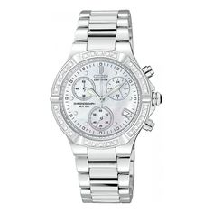 Buy a Citizen Ladies' Eco-Drive Chronograph Watch - Riva Diamond Collection online today from Watch Supermarket - Available with FREE delivery Tag Heuer, Luxury Watches, Rolex Watches, Cool Watches, Watches For Men, Ladies Watches, Discount Watches, Swiss Army Watches, Watch Sale