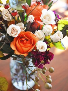 Fall flower arrangement, i really l;ike this one An 02/13