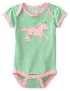 Amazon.com: Hatley - Baby Girls Infant Running Horses One Piece Bodysuit: Clothing