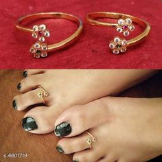 Checkout this latest Anklets & Toe Rings Product Name: *Stylish Designer Gold Plated Toe Ring* Sizes:Free Size Easy Returns Available In Case Of Any Issue   Catalog Rating: ★4.2 (974)  Catalog Name: Elite Charming Women Anklets & Toe Rings CatalogID_1051873 C77-SC1098 Code: 602-6601719-834