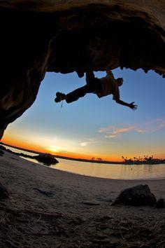 Beach Bouldering