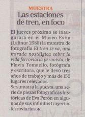 """La Nación - """"El tren se va""""."""