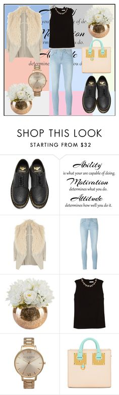 """#108"" by stylistmissbarbar on Polyvore featuring мода, Dr. Martens, River Island, Frame, Erdem, Olivia Burton и Sophie Hulme"