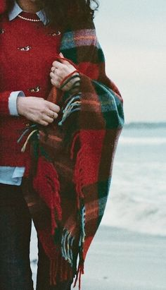 Tartan throw for those cool nights on the beach.