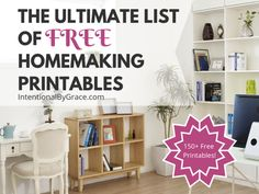 The Ultimate List of Free Homemaking Printables - FREE printables to help you with planning, organizing, cleaning, goal setting and more! Home Management, Christian Living, Christian Women, Homeschool Curriculum, Menu Planning, Home Organization, Making Ideas, Free Printables, Encouragement