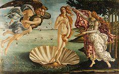 Botticelli, Nascita di Venere, 1485 ca, tempera su tavola, 278x172, Firenze, Galleria degli uffizi