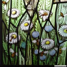 Field margin (detail) March 2014 Ann Sotheran Glass Artist