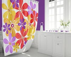 Who says the fun has to stop at the bathroom door? Shop mid century modern shower curtains featuring our original all modern fabrics. Retro Shower Curtain, Pink Shower Curtains, Modern Shower Curtains, Modern Retro, Midcentury Modern, All Modern, Pink Showers, Pad Design, Modern Fabric