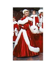 White Christmas Dress, White Christmas Movie, Christmas Movies, Holiday Movies, Christmas Dresses, Christmas Pics, Christmas Decor, Red Gown Dress, Barbie Dress