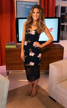 Looking fabulous in floral, our gorgeous co-host takes the set in this ASOS dress, Madewell shoes and a 616 Couture Necklace.