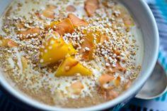 amaranth porridge with mangos and coconut | Scaling Back