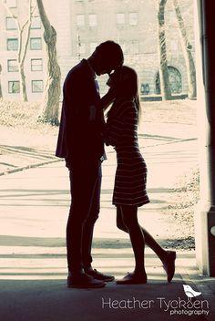 Get a silhouette shot! ~New York City engagement photos