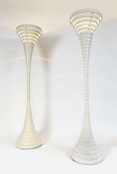 pair of portoghesi floor-lamps | Galerie Alain FRADIN & Robert LABROSSE