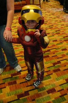 Awesome happy lil' Iron Guy:) 2012 Denver StarFest Awesome Costume
