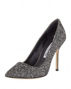 17263d13f1b Get free shipping on Manolo Blahnik BB Rock Crystal-Encrusted 105mm Pump at  Neiman Marcus. Shop the latest luxury fashions from top designers.