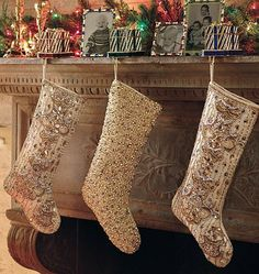 hang your stockings by the chimney with flair gold christmas stockings christmas stocking pattern