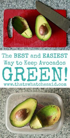 I haven't tried this avocado trick before - I hope it works!