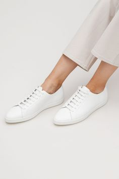 COS image 4 of Pointed sneaker in White