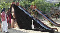 #capelli #lisci come #seta  #scivolo #creative #ads