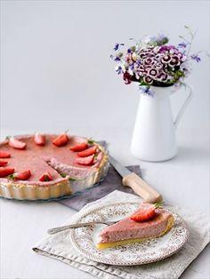 Obrázek z Recept - Koláč s jahodovým mascarpone