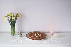 "Orange-almond ""mazurek"" with white chocolate"