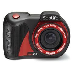 SeaLife Micro 2.0 32GB Wi-Fi Underwater Digital Camera Waterproof up to 200 ft. (60m). Built-in 130-degree fisheye lens -- Large piano key controls. Sony 16MP CMOS Image Sensor -- Full 1080p HD video. 32GB internal memory -- Built-in Wi-Fi. Large 2.4 inch TFT Color LCD -- 2350mAh internal lithium rechargeable battery. Waterproof to 200ft / 60m -- Waterproof USB Port.