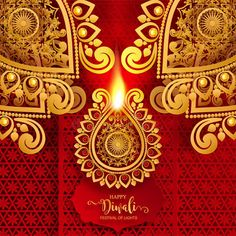 Illustration about Happy Diwali festival card with gold diya patterned and crystals on paper color Background. Illustration of ceremony, ethnicity, editable - 127638257 Happy Diwali Pictures, Diwali Festival, Festival Lights, Card Stock, How To Draw Hands, Crystals, Paper, Illustration, Cards