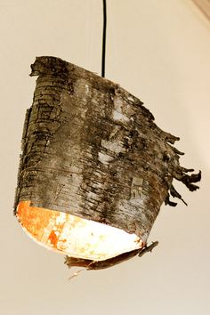 Birch Bark Lamps ... I really want to do something with birch bark. I don't know if I want a lamp, but this is to remind me that I want something.