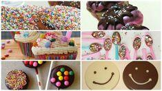 Σπιτικές ιδέες για κέρασμα στο σχολείο, εύκολα και οικονομικά! Sprinkles, Candy, Snacks, Breakfast, Birthday, Desserts, Recipes, Food, Party Ideas