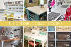 Eye Candy: 8 Super Organized And Stylish Craft Rooms