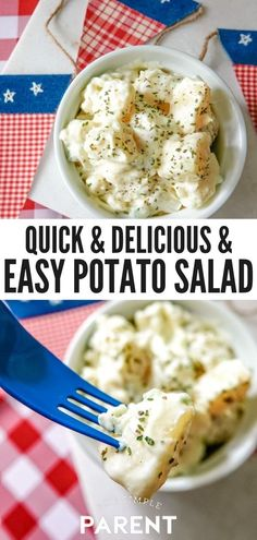 Homemade Potato Salad Recipe. Are you craving potato salad? This is the best potato salad recipe, so much better than anything you would buy at a deli and so easy, too! This classic potato salad recipe with egg uses simple ingredients you have on hand, like mustard, miracle whip, and mayonnaise. #potatosalad #recipe #sidedish Summer Potato Salad Recipe, Potato Salad With Egg, Easy Potato Salad, Miracle Whip Potato Salad Recipe, Egg Salad, Easy Salad Recipes, Chicken Salad Recipes, Vegan Recipes Easy, Side Dish Recipes