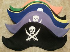 Pirate hats for the kiddos