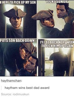 Haytham and connor kenway humor assassins creed