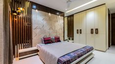 Design greets culture - permar house the design code - the architects diary Bedroom Cupboard Designs, Wardrobe Design Bedroom, Bedroom Bed Design, Bedroom Furniture Design, Home Room Design, Modern Bedroom Design, Bedroom Colors, Living Room Designs, Bed Furniture