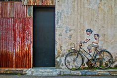 Photography of World Heritage Conservation in Penang, Malaysia, Wall Art, Public Art Painting - Photography Fine Art Print on Art Paper