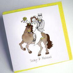 Horse Wedding Invitation ideal for jockeys choose the colour theme and horse…