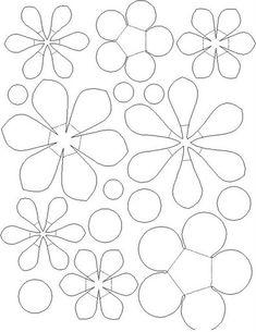27 moldes de flores